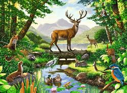 Woodland Harmony Deer Children's Puzzles
