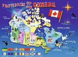 Map of Canada Wildlife Jigsaw Puzzle