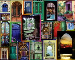 Doors of the World Collage Jigsaw Puzzle