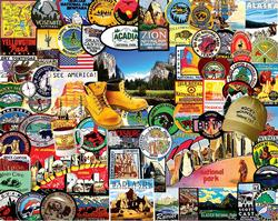 National Park Badges Collage Jigsaw Puzzle