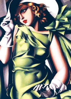 Young Girl in Green, Lempicka Contemporary & Modern Art Jigsaw Puzzle
