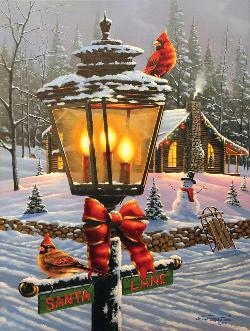 Christmas Perch Christmas Jigsaw Puzzle