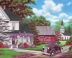 Coca-Cola Country Nostalgic / Retro Jigsaw Puzzle