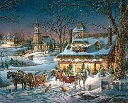 Evening Rehearsals (Terry Redlin Collection) Winter Jigsaw Puzzle