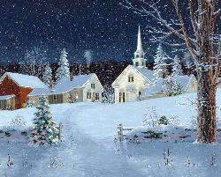 Christmas Lights Winter Jigsaw Puzzle