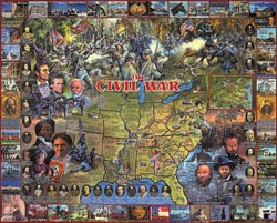 The Civil War Monuments / Landmarks Jigsaw Puzzle