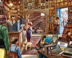 Old Book Store People Jigsaw Puzzle