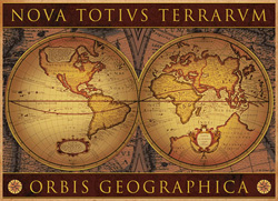 Map Orbis Geographica 2 Maps Jigsaw Puzzle