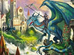 Dragon Rider Dragons Jigsaw Puzzle