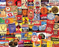 Hotel Stickers Collage Large Piece