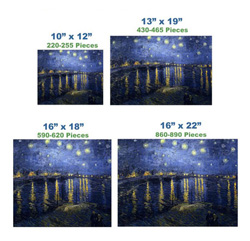 Starry Night Over the Rhone Van Gogh Starry Night Wooden Jigsaw Puzzle