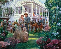 Magnolia Morning - April 7, 1861 Military Jigsaw Puzzle