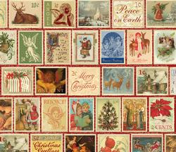 Christmas Stamps Collage Jigsaw Puzzle