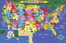 USA Map Floor Puzzle United States Children's Puzzles