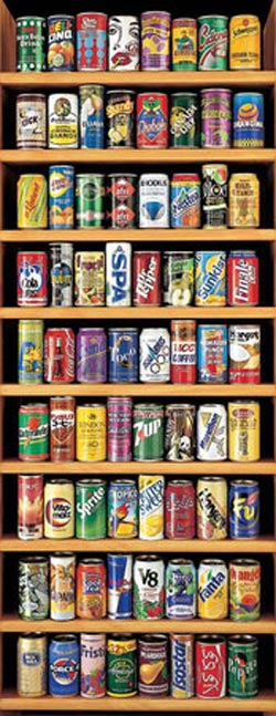 Soft Cans Food and Drink Panoramic Puzzle