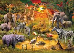 African Harmony Sunrise/Sunset Jigsaw Puzzle