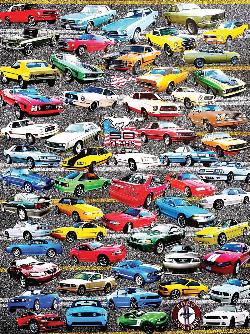 50 Years of Mustangs Collage Jigsaw Puzzle