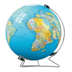 The Earth (Puzzleball) Maps / Geography Plastic Puzzle