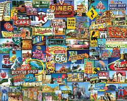 Roadside America Collage Jigsaw Puzzle