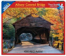 Albany Covered Bridge Fall Jigsaw Puzzle