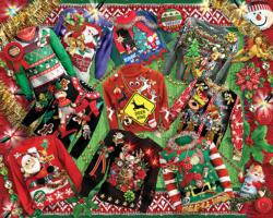 Ugly Christmas Sweaters Collage Jigsaw Puzzle
