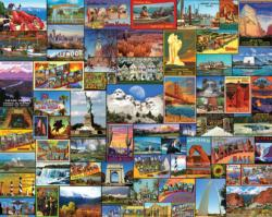 Best Places in America - Scratch and Dent Collage Jigsaw Puzzle