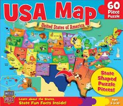 USA Map - Scratch and Dent United States Children's Puzzles