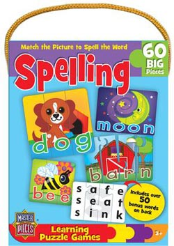 Spelling Game (Mini) Animals Jigsaw Puzzle