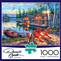 Loon Lake Landscape Jigsaw Puzzle