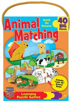 Animal Matching Game (Mini) Animals Jigsaw Puzzle