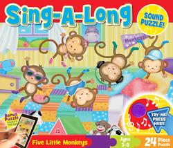 Sing-a-Long Sound - Five Little Monkeys Cartoons Sound Puzzle