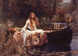 The Lady of Shalott Lakes / Rivers / Streams Jigsaw Puzzle