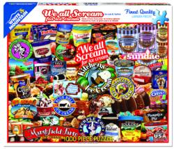 We All Scream for Ice Cream Food and Drink Jigsaw Puzzle