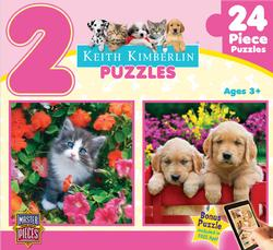 Keith Kimberlin 2-Pack - Pink Dogs Jigsaw Puzzle