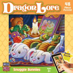 Snuggle Bunnies (Dragon Lore) Cartoons Jigsaw Puzzle