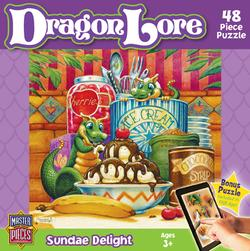 Sundae Delight (Dragon Lore) Dragons Jigsaw Puzzle