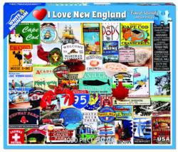 I Love New England Collage Jigsaw Puzzle