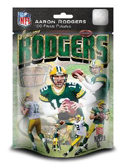 NFL 100pc Foil Pack - Green Bay - Aaron Rodgers (Packers) Sports Jigsaw Puzzle