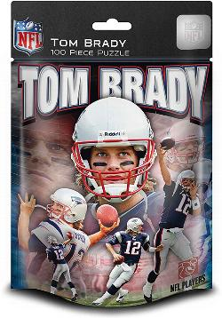 NFL 100pc Foil Pack - New England - Tom Brady (Patriots) Sports Jigsaw Puzzle