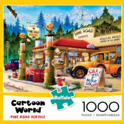 Pine Road Service (Cartoon World) - Scratch and Dent Nostalgic / Retro Jigsaw Puzzle