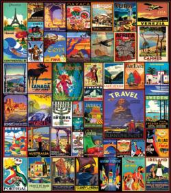 Travel The World Pattern / Assortment Jigsaw Puzzle