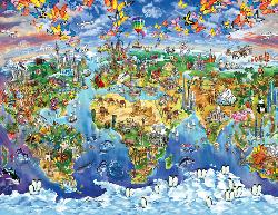 Explorer World Map Dolphins Children's Puzzles