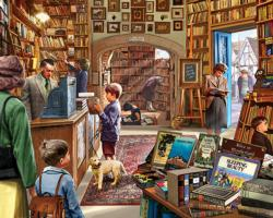Cozy Book Shop Nostalgic / Retro Jigsaw Puzzle
