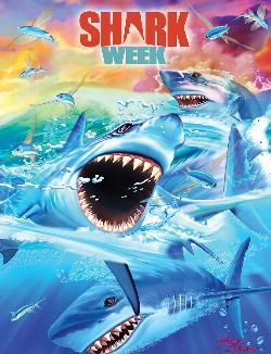 Shark Swarm (Shark Week) Movies / Books / TV Jigsaw Puzzle