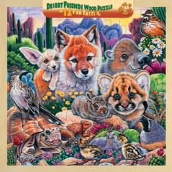 Desert Friends Animals Wooden Jigsaw Puzzle