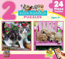 Fluffy Furballs (Keith Kimberlin 2-Pack) Baby Animals Multi-Pack
