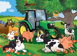 Farmer John's Welcome (John Deere) Cows Children's Puzzles