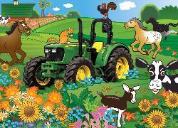 Springtime Romp (John Deere) Horses Jigsaw Puzzle