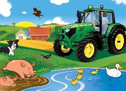 Morning Dip (John Deere) Baby Animals Children's Puzzles