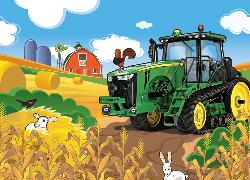 Hay Harvest (John Deere) - Scratch and Dent Chickens & Roosters Children's Puzzles